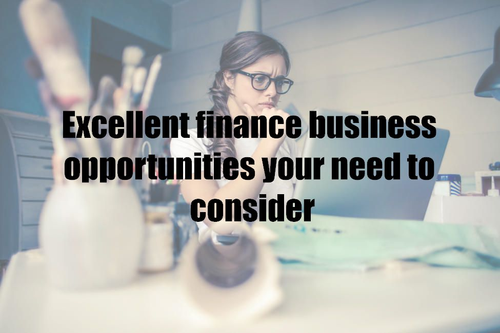 Excellent finance business opportunities your need to consider
